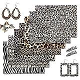 ZAIONE 7 x 20 x 30 cm Leoparden-Kunstleder-Blätter Gold