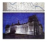 Christo Poster Kunstdruck Bild Reichstag XV (1) 100x110cm