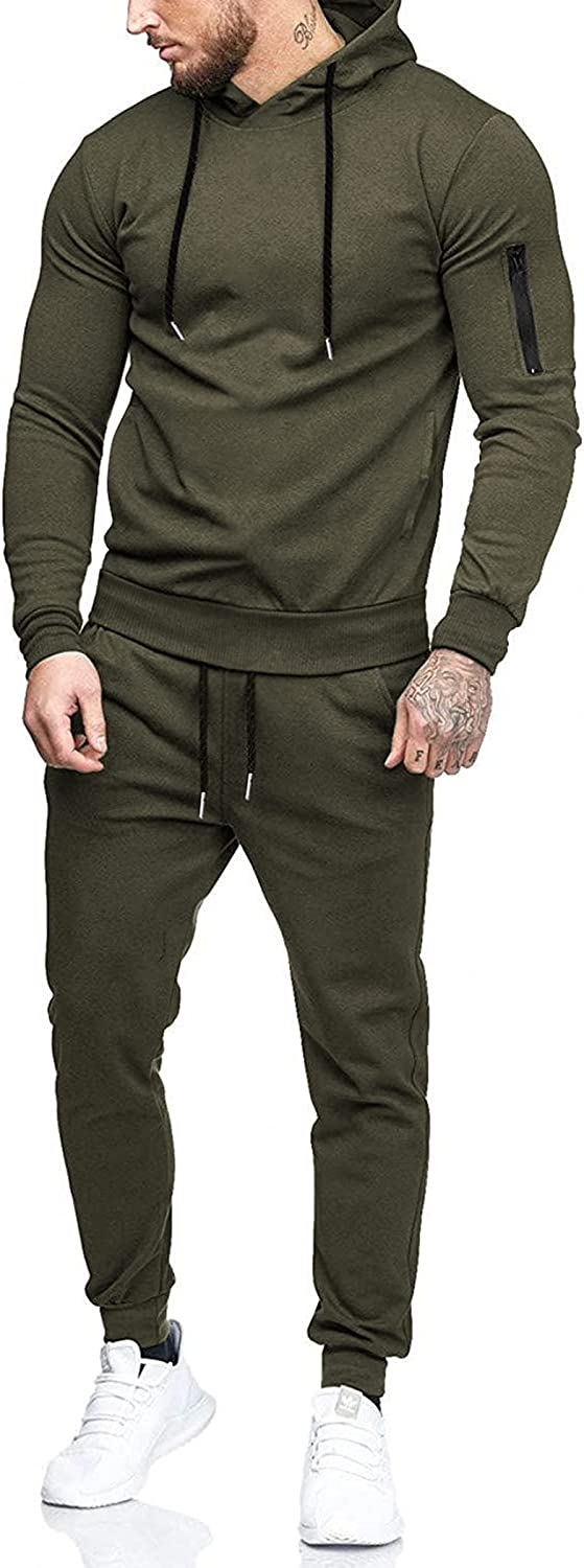 COOFANDY Men's Tracksuit 2 Piece Hooded Athletic Sweatsuits Casual Running Jogging Sport Suit Sets