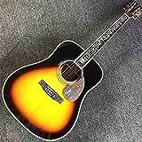 YYYSHOPP Guitarra Guitarra acústica de fretboard de Palisandro sólido Completo en la Guitarra acústica sólida de Sun Spruce Guitarra folclórica de Guitarra sólida Guitarra acústica