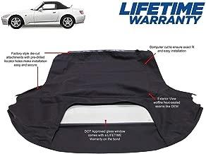 Fits: Honda S2000 Convertible Top (2000-01) Black Haartz Twillweave Original Material with Glass Window