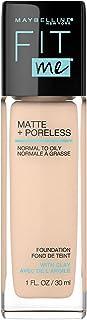 Maybelline Fit Me Matte + Poreless Liquid Foundation Makeup, 1 fl; oz; Oil-Free Foundation (115 IVORY)