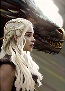 5D Mother of Dragons Diamond Painting Kits for Adults and Kids, Game Thrones Diamond Art, Dragon Queen Full Drill Cross St...