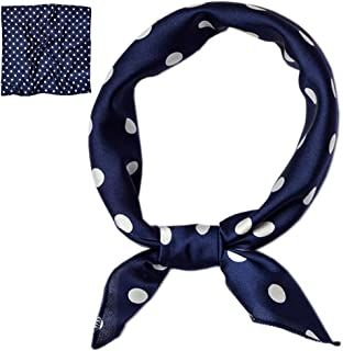 Patiky Women Silk Neckerchief Polka Dot Small Square Neck Scarf for Women PSSJ01