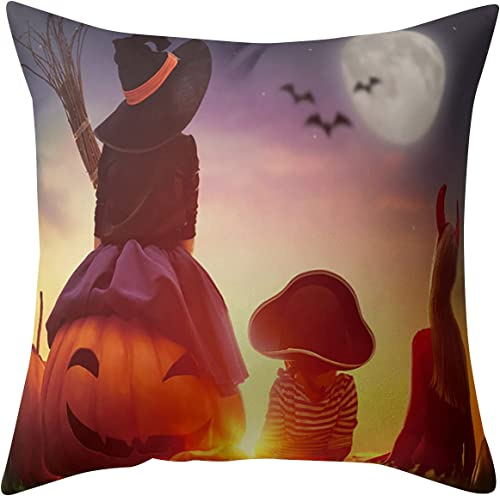 high quality Halloween new arrival Pillow Covers 18 x 18 Inches Halloween Cushion Cover Case Pillow Square Pillowcases for Sofa, popular Couch, Bed and Car (#02) online sale