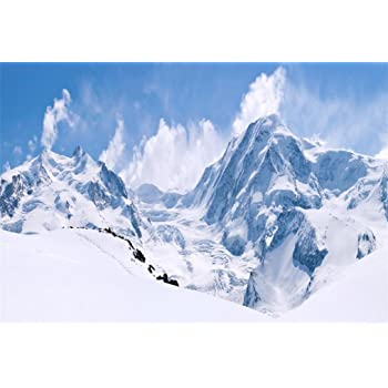 YongFoto 20x10ft Snow Mountain Lake Backdrop Polar Ice Photography Background Winter Scenery Outdoor Camping Picnic Travel Theme Party Banner Kids Adult Portrait Photo Studio Props Wallpaper
