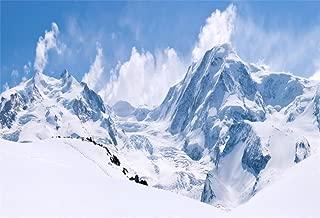 AOFOTO 10x7ft Snowy Mountain Range Backdrop Cold Winter Scenery Photography Background Blue Sky Snow-Covered Alpine Snow High Hill Peak Ski Nature Landscape Travel Photo Studio Props Vinyl Wallpaper