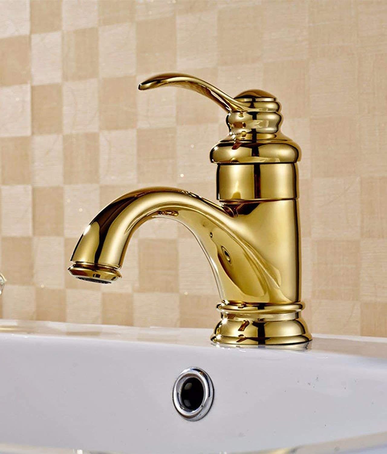 Oudan European style retro style copper hot and cold washing the face toilet bathroom water tap