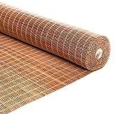 LHF123 Persiana Enrollable De Bambú Carbonización, Cortina De Bambú Persiana Bambu,Sombreado 55%,para Sala De Cama Ventanas Puertas Sala De Arte Sombra Balcón,Personalizable (60x80cm/24x32in)