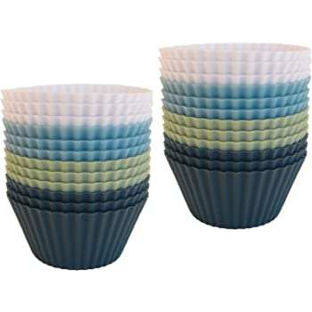 The Silicone Kitchen Reusable Silicone Baking Cups - Pack of 24 | Non-Toxic | BPA Free | Dishwasher Safe