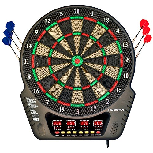 Hudora Unisex's LED 04 Electronic Dartboard, Multicolour, One Siz