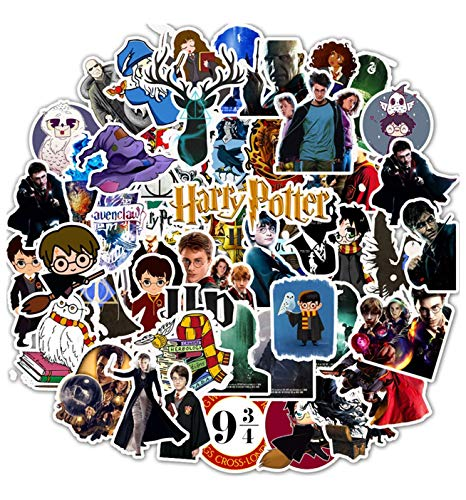 Pauplian 50PCS Harry Potter Personality Stickers Graffiti Stickers Waterproof Vinyl Stickers for Suitcase, Car, Luggage, Skateboard, Motorcycle, Bumper, Guitar (Harry Potter)