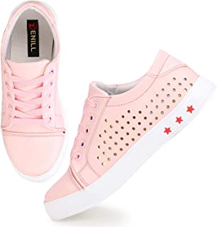 Denill Latest Collection, Comfortable & Fashionable Laser Cut Designer Sneaker Shoes for Women's and Girl's