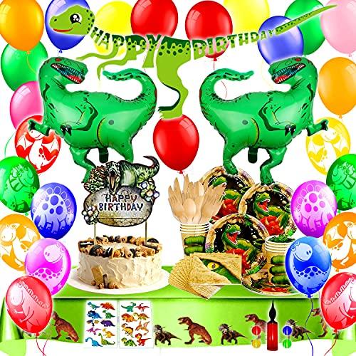 Bea's Party Dinosaurier Geburtstag Dinosaurier Party partygeschirr Kindergeburtstag Dino Set servietten Teller biologisch abbaubares Geschirr Dino Party Geburtstag deko Dino Luftballon