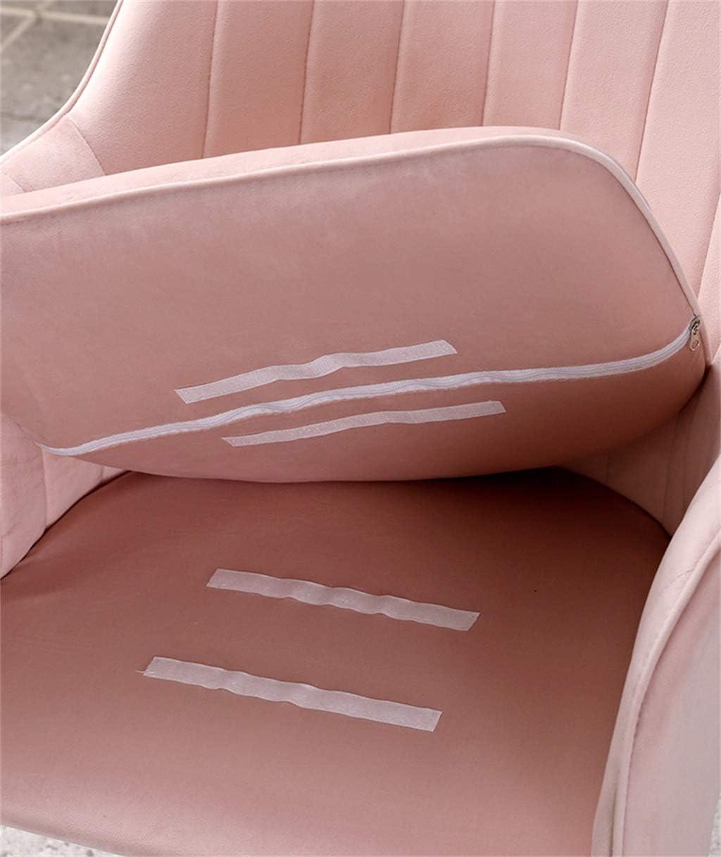 Chaises de Salle à Manger en Velours avec Pieds en métal au Fini doré pour Le Salon/la Cuisine [7 Couleurs Disponibles] Dark Green