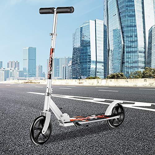 LIYANJJ Kick Scooter, Scooter de Rueda Grande con Manillar ergonómico Pro City Street Scooter 3 Alturas Ajustables No Requiere ensamblaje para Adolescentes y Adultos