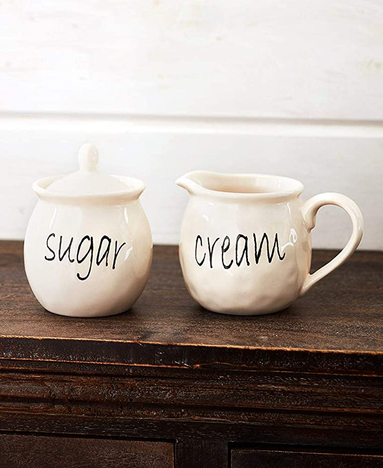 The Lakeside Collection Rustic Chic Coffee Cream and Sugar Set -