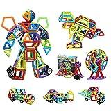 109 bloques magnéticos de construcción | Kit de arco iris de construcción magnética 3D | Bloque de construcción STEM regalo educativo creativo para niños y niñas