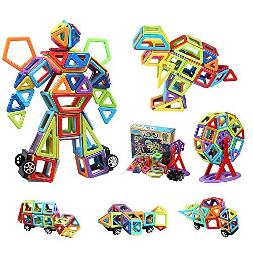 HappyGoo 109 Pezzi Costruzioni Magnetiche per Bambini, Mini Blocchi Magnetici, Gioco Magnetico Bambini, Giochi Intelligenti e Educativi per Bambino da 3-8 Anni