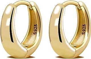 LIHELEI Orecchini in argento con zirconi cubici per donna, orecchini a polsino Cartilage Huggies Set di orecchini in argen...