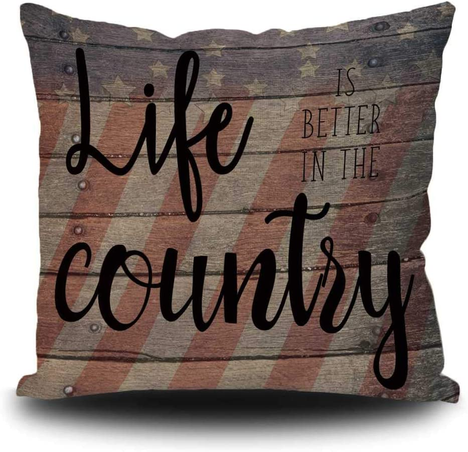 Vintage specialty shop Farm Home Decor Pillow Case Backgr American High material Us With Flag