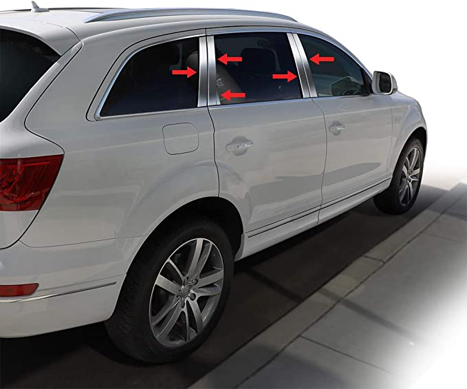 Works with 2007-2015 Volvo S-80 4PC Stainless Steel Chrome Pillar ...