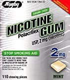 Rugby Nicotine Polacrilex Gum, 2 MG, Mint Flavor, 110 pieces, Stop Smoking Aid