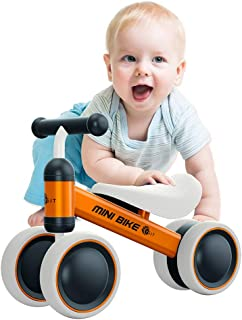 YGJT Baby Balance Bikes Bicycle Baby Walker Rides Toys for 1 Year Boys Girls 10 Months-24 Months Baby's First Bike First Birthday Gift Blue (Orange)