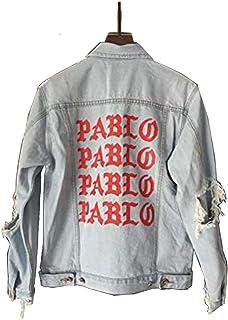 New Pablo Kanye West Denim Jackets Men The Life of Pablo Kanye Denim Jeans Oversized Denim Jacket Coats S-XL