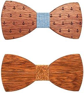 Jintong 3Pcs Nuovi papillon in legno floreale per uomo Papillon Abito da sposa Camicia in legno Papillon Krawatte Papillon Slim Tie