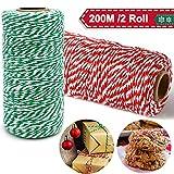 Cordel Verde Rojo y Blanco 200M, Cordel Hilo de...