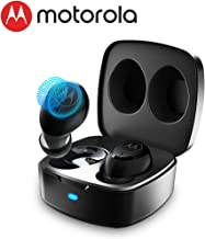 MOTOROLA VerveBuds 100 True Wireless Earbuds | Comfortable Bluetooth Earbuds With Passive Noise Cancella |One Touch Control Bluetooth 5.0 Earphones |Multi-Size Super Lightweight Wireless Earbuds|Black