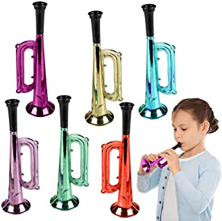 ArtCrearity شیپورهای فلزی 7 اینچ ، مجموعه ای از 12 ، سازهای سرگرم کننده پلاستیکی سازهای سر و صدا برای مهمانی ها و رویدادها ، اسباب بازی های موسیقی برای کودکان ، جشن های جالب جشن تولد برای دختران و پسران