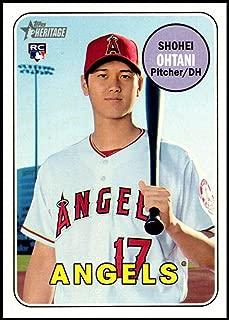 Baseball MLB 2018 Topps Heritage High Number #600 Shohei Ohtani RC Angels