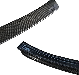 Roof Spoiler Compatible With 2012-2019 BMW 3-Series F30 F80, AC Style Carbon Fiber Black Top Rear Window Roof Spoiler Lip ...