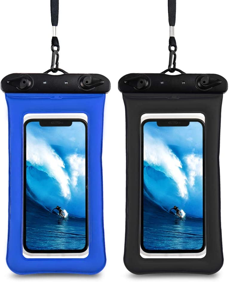 LITTLETREE Universal Waterproof Case,Underwater Phone Dry Bag Compatible with iPhone 12/12 Pro Max/11/11 Pro/Xs Max/8P/7P/ Galaxy S10/S9 Up to 6.9