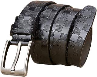 1b7191a8239d3 FR-AP ceinture en peau de vache pour homme, boucle à ardillon ceinture en