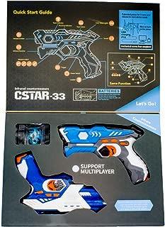 ZFITEI ❤ Toys Kids Games Infrared Laser Tag Guns and Alien Insect Robot,2 Infrared Laser Tag,1 Laser Tag Bug Spider Training Bot,Laser Battle,A Team Mode - Infrared 0.9mW,Exquisite Box Packaging!!☃