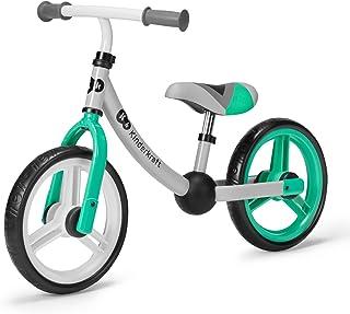 Kinderkraft Balanscykel 2WAY NEXT, springcykel, gåcykel för barn, småbarn, grön