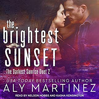 The Brightest Sunset                   Auteur(s):                                                                                                                                 Aly Martinez                               Narrateur(s):                                                                                                                                 Nelson Hobbs,                                                                                        Kasha Kensington                      Durée: 7 h et 12 min     Pas de évaluations     Au global 0,0