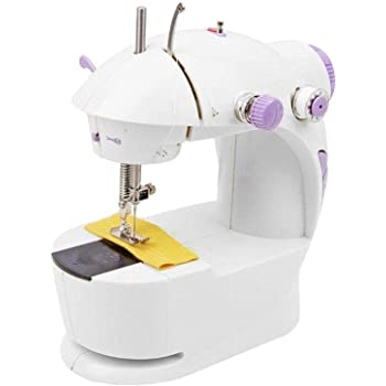 ZOSOE Multi Electric Mini 4 in 1 Desktop Functional Household Sewing Machine for Home,Sewing Machines,Sewing Machine for Home Mini Hand,Mini Sewing Machine, Stiching Machine for Home(White)