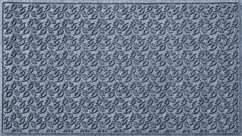 Bungalow Flooring Waterhog Door Mat, 3' x 5' Made in USA, Durable and Decorative Floor Covering, Skid Resistant, Indoor/Outdoor, Water-Trapping, Dogwood Leaf Collection, Khaki/Camel