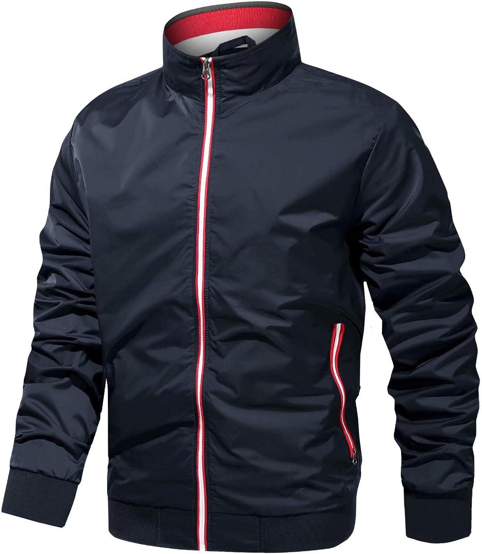 MAGCOMSEN Men's Lightweight Bomber Max 70% OFF Jacket OFFicial shop Pockets Zipper C Stand