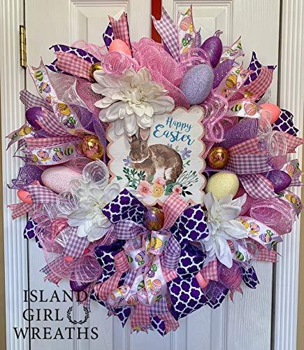Easter quality assurance Wreath For Front Mesh Super intense SALE Wr Door Deco