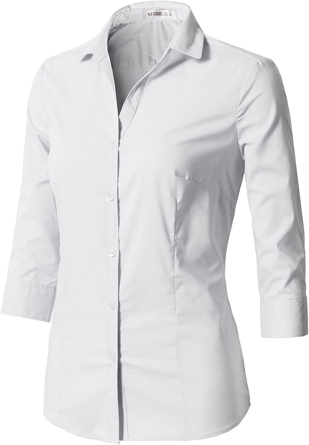 CLOVERY Ranking TOP5 Women's Formal Wear 3 4 Simple Button Do Sleeve Fit Slim 67% OFF of fixed price
