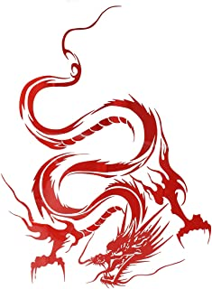 Akachafactory Autocollant Sticker Voiture Tuning Dragon Tribal Ying Yang r2