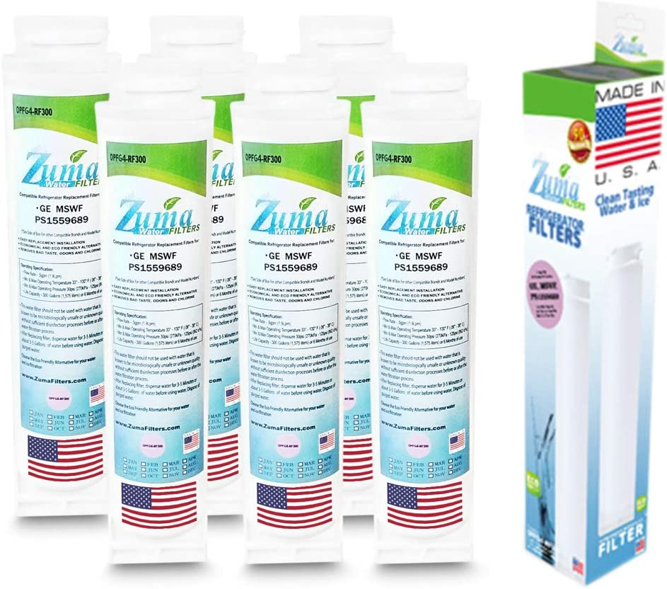 Zuma Filters High quality 6-Pack - GE Compatible Refrigerator Water New mail order 101820A