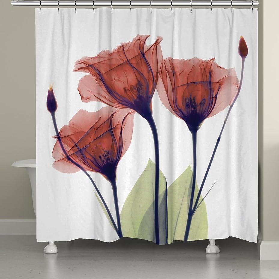 容器もう一度最愛のMoonlight シャワーカーテン 防水防カビ加工 カーテンリング付属 180 x 180cm カラフル 簡単なカーテン 品質保証 バスルーム用品 … (レッド)
