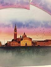 Happidea - Colcha Acolchada para Cama de Matrimonio Paisaje Venecia, Fabricada en Italia