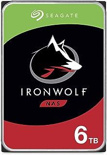 Seagate IronWolf, NAS interne Festplatte 6 TB HDD, 3.5 Zoll, 7200 U/Min, CMR, 256 MB Cache, SATA 6 Gb/s, silber, inkl. 3 Jahre Rescue Service, Modellnr.: ST6000VN0033